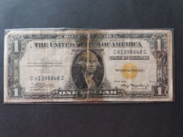 UNITED STATE EE.UU ÉTATS-UNIS US USA George Washington, 1732-1799  ONE DOLLAR CERTIFICATE GOLD 1 $ ROTTI - Gold Certificates (1928)