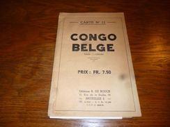 CB15 Carte Géographique N°22 Congo Belge De Rouck 1/5 000 000 - Dépliants Touristiques