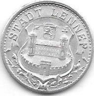 *notgeld Lennep 10  Pfennig 1920. Alu   F 288.2 - [ 2] 1871-1918 : Imperio Alemán