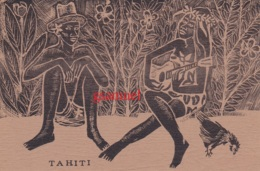 Océanie - TAHITI - Musicienne - Guitare - Coq - Format Cpsm - Tahiti