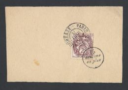 N° Y/T 108 Type Blanc Sur Fragment Bande Journal Oblitéré 11/6/1903 Journaux PP 87 + MP 1/2 Centime En Plus - Marcophilie (Timbres Détachés)