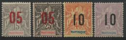 Martinique (1912) N 78 à 81 (o) - Martinica (1886-1947)