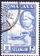 Malaiische Staaten V - Selangor - Fischerboot (MiNr: 85) 1957 - Gest Used Obl - Selangor