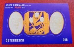 Österreich / Austria 2007; Josef Hoffman, Jewellery, Art, Design, Gold Embossed; MNH** Neuf; Postfrisch!! - 1945-.... 2nd Republic
