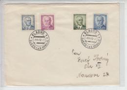 CECOSLOVACCHIA 1946 - Lettera Con Serie Corrente - Cecoslovacchia