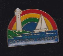 60189-Pin's-Boothbay Harbor.comté De Lincoln. Maine.États-Unis.Voilier.Phare. - Villes