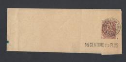 Bande Journal Type Blanc 2c Oblitération Journaux Nantes PP3 Du 14/5/1912 MP 1/2 Centime En Plus - Marcophilie (Lettres)