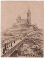 ° 13 ° MARSEILLE ° LA PASSERELL DE NOTRE DAME DE LA GARDE ° GRANDE PHOTO ND 551 Vers 1890 ° - Notre-Dame De La Garde, Funicolare E Vergine