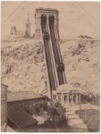 ° 13 ° MARSEILLE ° NOTRE DAME DE LA GARDE - L'ASCENSEUR ° GRANDE PHOTO ND 519 Vers 1890 ° - Notre-Dame De La Garde, Funicolare E Vergine