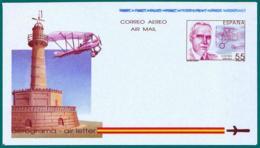 España. Spain. 1991. Aerograma. Air Letter. Eduardo Barron. Proyectista De Aviones - Enteros Postales
