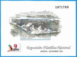 España. Spain. 1991. HB. EXFILNA '91. Madrid - Exposiciones Filatélicas