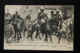 WW1 DRAGONS Et UHLANS DANS LES RUES D'ANICHE - 1914-18