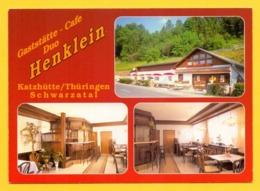 Xx01xx ★★ Katzhütte , Gaststätte Und Cafe Duo Henklein , Mehrbildkarte + Firmenstempel - Deutschland