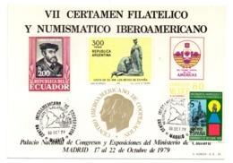 Tarjeta Commemorativa De 1979 Certamen Filatelico. - 1931-Hoy: 2ª República - ... Juan Carlos I
