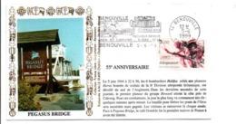 SECONDE GUERRE 55 ANS PEGASUS BRIDGE à BENOUVILLE CALVADOS - WW2