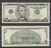 """STATI UNITI 2003 - 5 Dollari - """"Lincoln""""  Banconota In Condizioni Q/FDS - Federal Reserve Notes (1928-...)"""