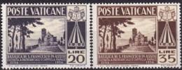 1954, Vatican, 223/24, MNH, Kirche Des Hl. Franz In Assisi - Vatican