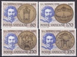 1980, Vatican, 771/74, MNH,  300. Todestag Von Gian Lorenzo Bernini. - Vaticaanstad