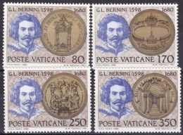 1980, Vatican, 771/74, MNH,  300. Todestag Von Gian Lorenzo Bernini. - Vaticano