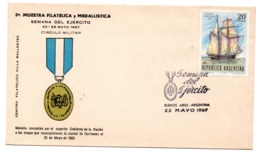 Carta Con Matasellos De Primer Dia 1967 Argentina - Argentinien