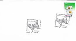 Spanien Sonderstempel Aus Logroño - Fauna Und Flora, Schmetterling, Mariposa - 2001-10 Storia Postale