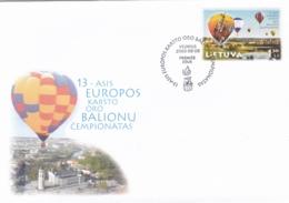 Litauen, 2003, 826,  FDC,  Heißluftballon-Europameisterschaften, - Lithuania