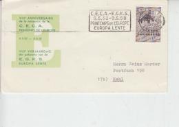 AZZORRE  1958 - Annullo Speciale  C.E.C.A. - E.G.K.S.  - Europa - Europa-CEPT
