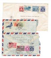 MARCOPHILIE - FORMOSE - ASIE - 3 ENVELOPPES DONT 1 RECOMMANDEE PAR AVION - 1950 - Lettres & Documents