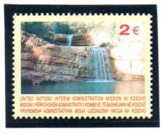 """(2WK-2) VEREINTE NATIONEN Im KOSOVO UNMIK Mi-Nr. 26  """"Mirusa Wasserfall"""", ** Postfrisch - Kosovo"""