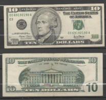 """STATI UNITI 2001 - 10 Dollari - """"Hamilton""""  Banconota In Condizioni SPL - Federal Reserve Notes (1928-...)"""