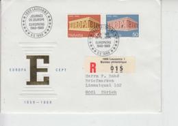 SVIZZERA 1969 - Raccoamndata - Unificato 832/33 -  Annullo Speciale - Europa-CEPT