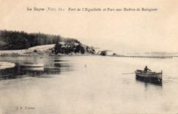 83 LA SEYNE  FORT DE L' AIGUILLETTE ET PARC A HUITRES DE BALAGUIER ANIMEE BARQUES - La Seyne-sur-Mer