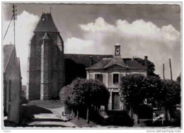 Carte Postale 78. Cernay-la-ville L'église Et La Mairie Trés Beau Plan - Cernay-la-Ville