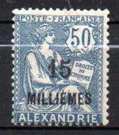 Col17  Colonie Alexandrie N° 62 Neuf X MH Cote 4,50€ - Neufs