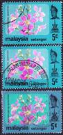 Malaiische Staaten V - Selangor - Königinblume (Lagerstroemia Speciosai) (MiNr: 114 + 121) 1979+86 - Gest Used Obl - Selangor
