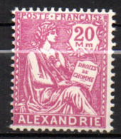 Col17  Colonie Alexandrie N° 77 Neuf X MH Cote 8,50€ - Neufs