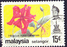 Malaiische Staaten V - Selangor - Chin. Roseneibisch (Hibiscus Rosa-sinensis) (MiNr: 116) 1979 - Gest Used Obl - Selangor