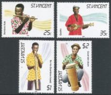 St Vincent. 1985 Traditional Musical Instruments. MNH Complete Set (Excl Miniature Sheet). SG 905-908 - St.Vincent (1979-...)