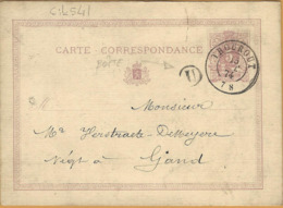 6ik-541:Postbus Letter:U:CORTEMARCK /Carte-CORRESPONDANCE : 5ct: THOUROUT 15 DEC 74> Gand - Interi Postali