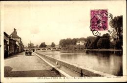 Cp Selles Sur Cher Loir Et Cher, Le Quai Du Cher - France