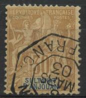 Anjouan (1892) N 9 (o) - Oblitérés