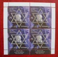 Österreich/Austria/Israel 2010; Famous Person, Writers, Nazi Hunter, Simon Wiesenthal; MNH** Neuf; Postfrisch! - 1945-.... 2nd Republic