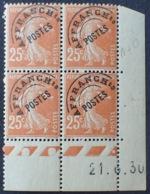 R1615/1321 - 1930 - TYPE SEMEUSE - PREO - BLOC N°57 (235) TIMBRES NEUFS**(2)/*(2) CdF Daté - Coins Datés