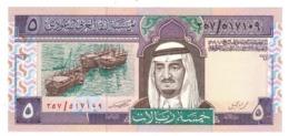 Saudi Arabia 5 Riyals, P-22c. UNC. - Saoedi-Arabië