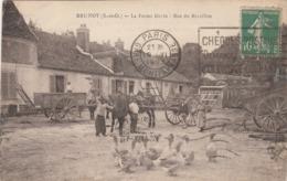 CPA (91) BRUNOY La Ferme Devin Rue Du Réveillon Matériel Agricole Oie Goose Paysan  (2 Scans) - Brunoy