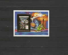 Guinea 1990 Olympic Games Albertville, Space Gold S/s Imperf. MNH -scarce- - Inverno1992: Albertville