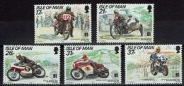 Großbritannien - Isle Of Man 1991 - Tourist-Trophy-Mountain - MiNr 468-472** - Motorbikes