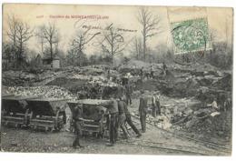 Carrière De MONTAIGUILLON, Envoi 1904 (wagonnets Poussés) - Autres Communes