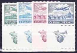 Tchécoslovaquie 1946 MI 496+498-500 Zf (Yv PA 22+24+26-7 Avec Vignette), (MNH)** - Luftpost