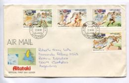 XXIV OLYMPIAD SEOUL 1988 - AITUTAKI FDC FIRST DAY COVER CIRCULEE ARGENTINA AIR MAIL - LILHU - Aitutaki
